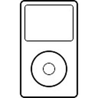 apple touch icon template ipod clipart outline pencil and in color ipod clipart