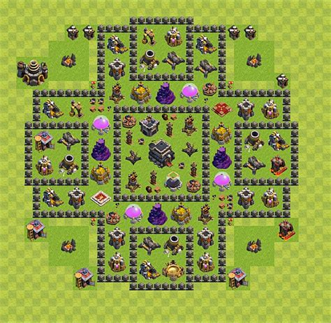 layout coc rh 9 clash of clans base plan layout for trophies town hall