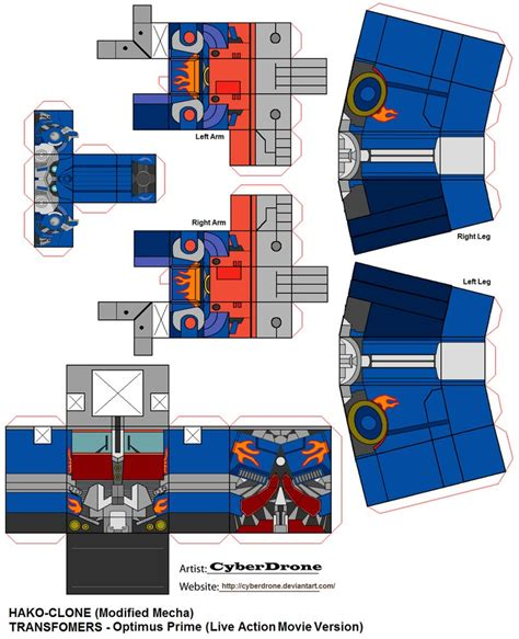 Transformers Papercraft Optimus Prime - hako clone optimus prime lam by cyberdrone on deviantart