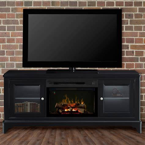 entertainment centers with electric fireplaces winterstein black electric fireplace entertainment center