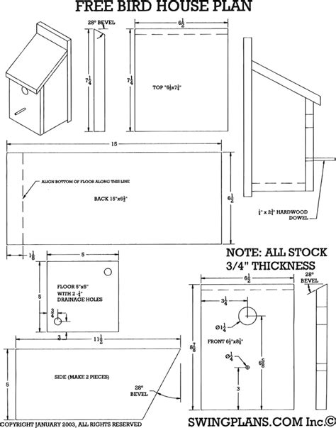 free home planner free bird house plans bird house plans