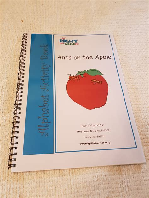 ants on the apple writing activity book 1 2 righttolearn sg
