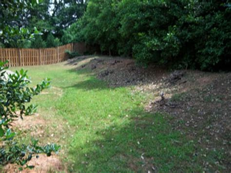backyard berm berm grading backyard grader atlanta marietta georgia
