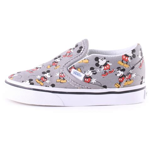 Vans Mickey Mouse vans toddler disney mickey mouse canvas trainers in grey
