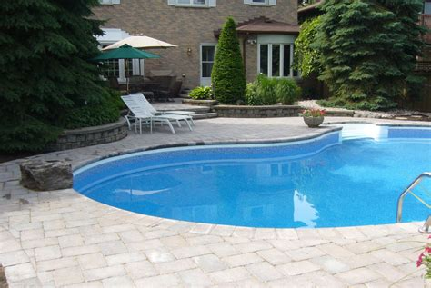 How To Design Backyard Landscape by Pool Side Landscape Samples Durham Whitby Oshawa