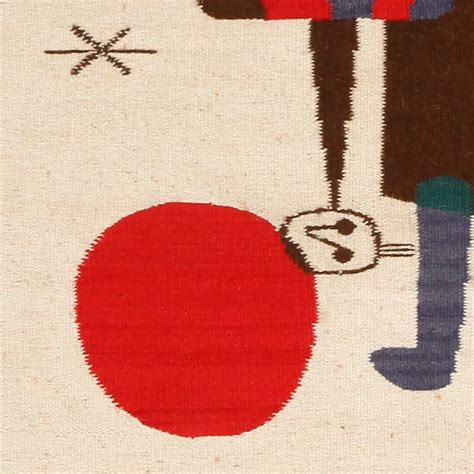 Joan Miro Rug by Joan Miro Inspired Mid Century Tapestry Rug At 1stdibs
