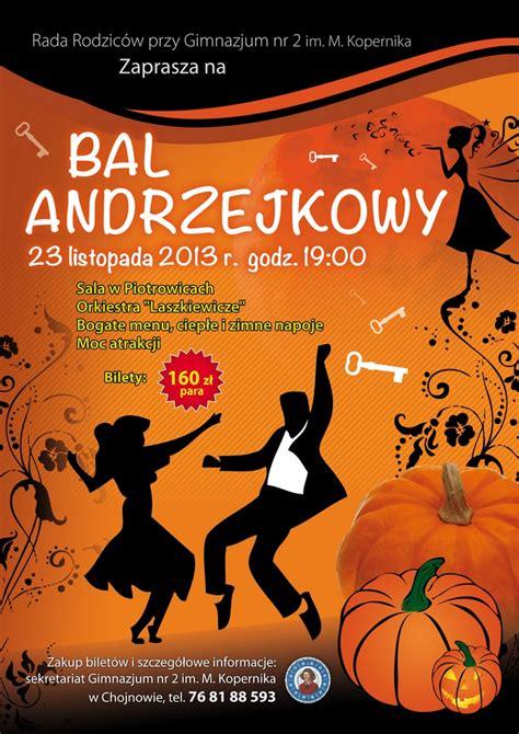 Plakat Andrzejkowy by Chojnow Pl Bal Andrzejkowy Z Gimnazjum Nr 2 W Chojnowie