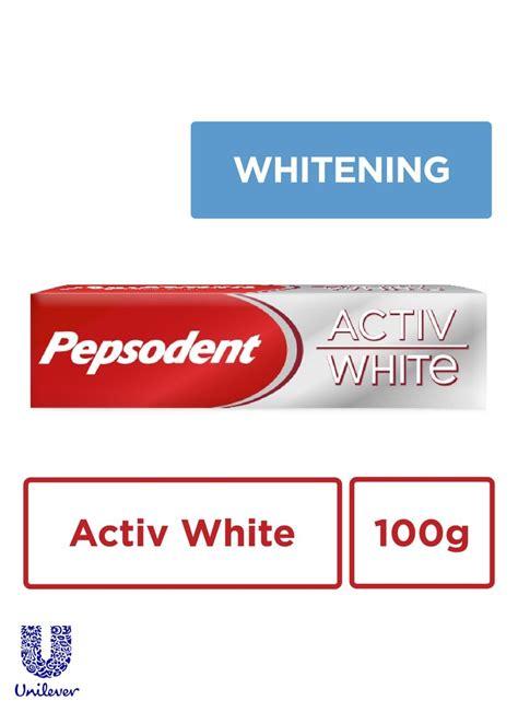 Pasta Gigi White Light pepsodent pasta gigi activ white tub 100g klikindomaret