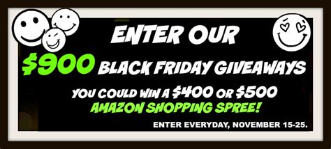 Amazon Giveaway Black Friday - 900 black friday giveaway the kindle book review