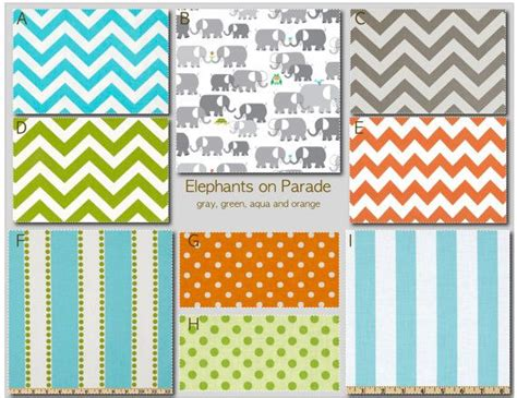 Make Your Own Crib Bedding Set Crib Bedding Design Your Own Crib Set Elephants On Parade Aqua Gray Orange And Green From