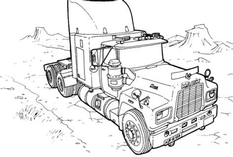 truck mack coloring page supercoloringcom