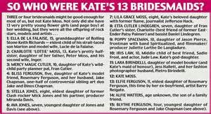 Kate Moss Wedding: Catty speeches, a broody bride, a host