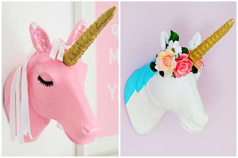Home Decor Pattern Trends 2016 by 2 Ways To Decorate A Mache Unicorn Head Hobbycraft Blog