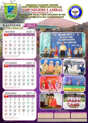 desain kalender 4 lembar desain kalender untuk sekolahan gubug gallery
