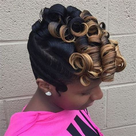 black women bob hairstyles with finger waves 25 best ideas about finger waves short hair on pinterest