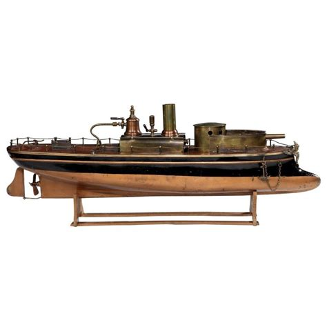 toy boat gun french steam powered toy gunboat by radiguet c 1890 20 quot l