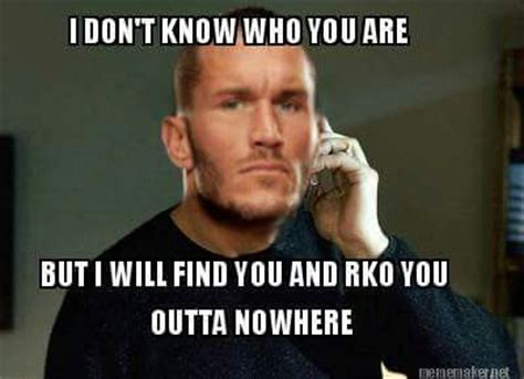 Randy Orton Meme - watch out watch out rko outta nowhere wwe pinterest