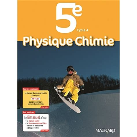 libro physique chimie cycle 4 physique chimie 5e cycle 4 programme 2016 bimanuel 5 232 me par mati 232 re espace culturel e