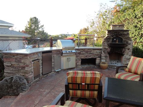 Outdoor Kitchen Designs With Pizza Oven Custom Outdoor Kitchen Lc Oven Designs Pizza Oven Leasure Concepts