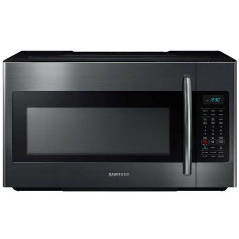 Microwave Cooktop - samsung me18h704sfg 1 8 cu ft 1000w black stainless