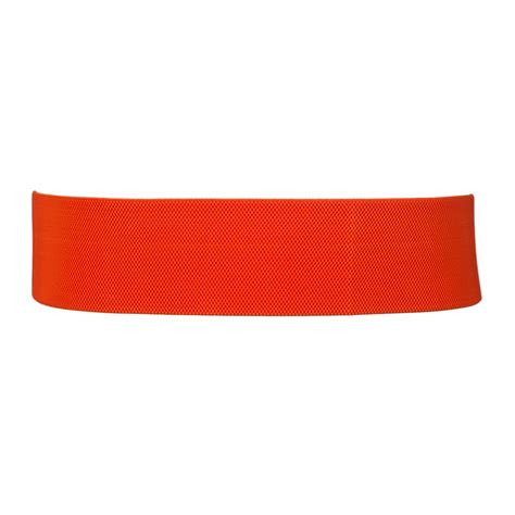 plus size wide patent leather fashion belt orange