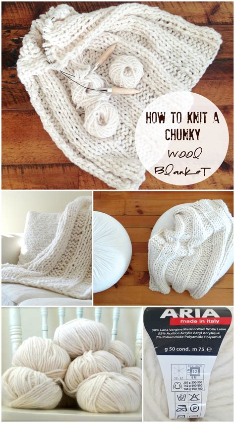 free chunky wool blanket pattern design the life you want to live
