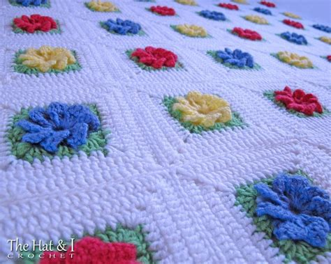 motif afghan pattern craftdrawer crafts free crochet irish lace and roses