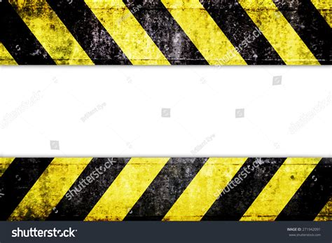 yellow warning pattern warning zone pattern in front of white background stock