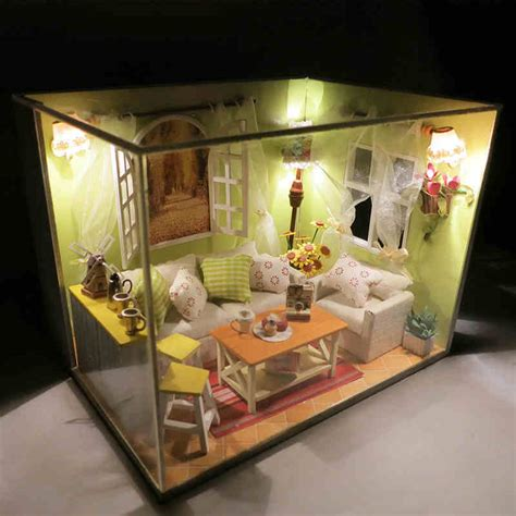 living in a box room in your dollhouse miniature diy model kit w cover for you in blossom living room ebay