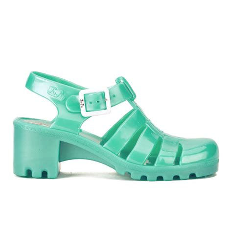 New Emboss Bio Jelly Shoes juju s heeled jelly sandals pearl aqua free uk delivery