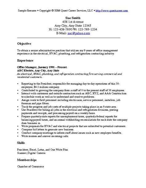 Sample Career Objective For Resume by Sample Resume Example 6 Administrative Resume