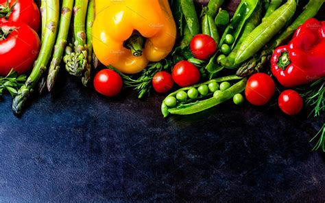 best organic foods food background with fresh organic vegetables top view