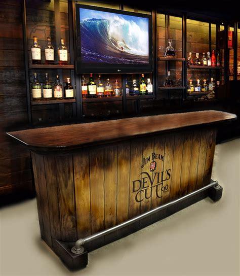 Home Built Bar Home Bar Custom Built Rustic Whiskey Pub Cave Barn