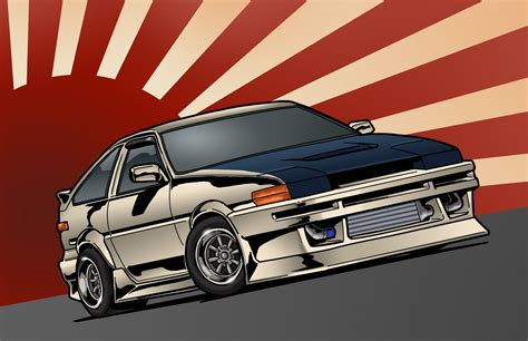 toyota corolla ae stance jdm front japan art hd wallpaper