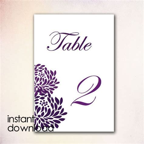table number templates for word 18 best images about diy table numbers templates instant