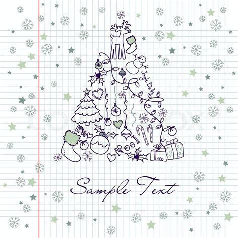 christmas tree text symbol tree made of symbols stock vector colourbox