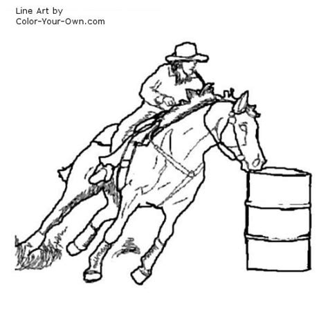 coloring pages of horses barrel racing barrel racing horse coloring page