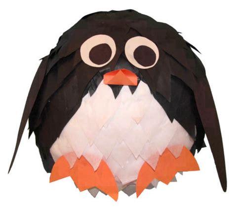 Paper Penguin Craft - penguin paper mache craft