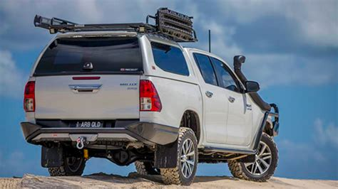 Towing Arb Hilux arb 4 215 4 accessories rear protection and wheel carriers arb 4x4 accessories