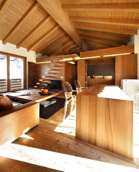 wooden interior modern wood house by studio fanetti decoholic