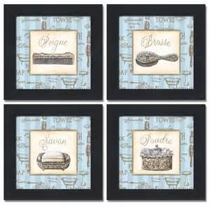 powder room prints 4 framed blue powder room bathroom prints 8x8 ebay