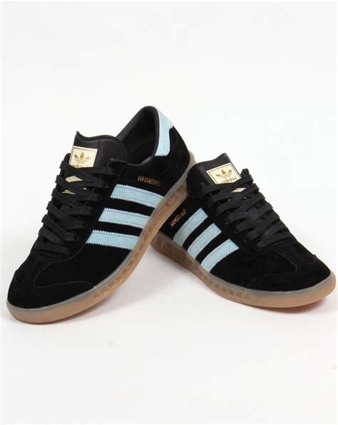 Adidas Hamburg 01 adidas hamburg trainers black blush blue originals shoes