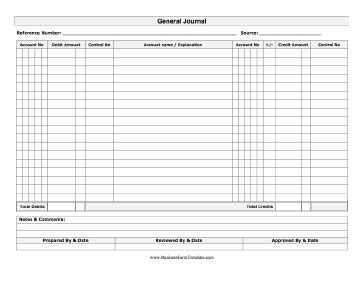 5 General Journal Templates Formats Exles In Word Excel Accounting Journal Template