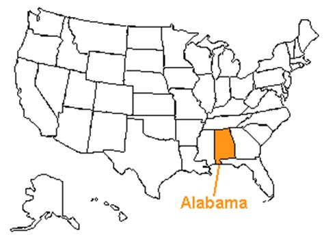 us map alabama the us50 a guide to the state of alabama geography