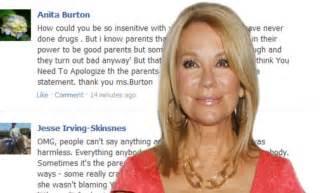 kathie lee gifford parents tv presenter kathie lee gifford blasted for implying