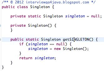 java singleton pattern exle thread safe interview questions and answers for java developers what