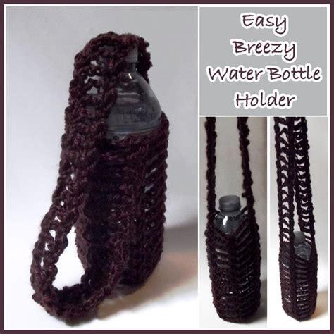 crochet pattern bottle holder easy breezy water bottle holder free crochet pattern