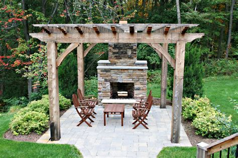 Outdoor Patio Ideas With Fireplace by Outdoor Fireplace Traditional Patio Other Metro By Green Apple Design