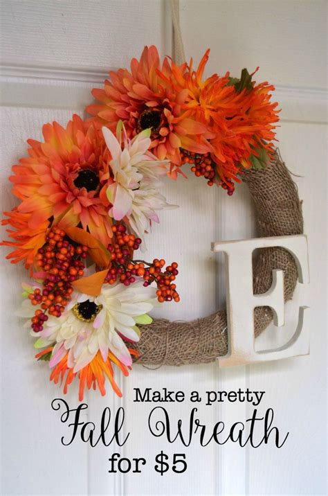 easy to make fall decorations easy fall wreath create and babble