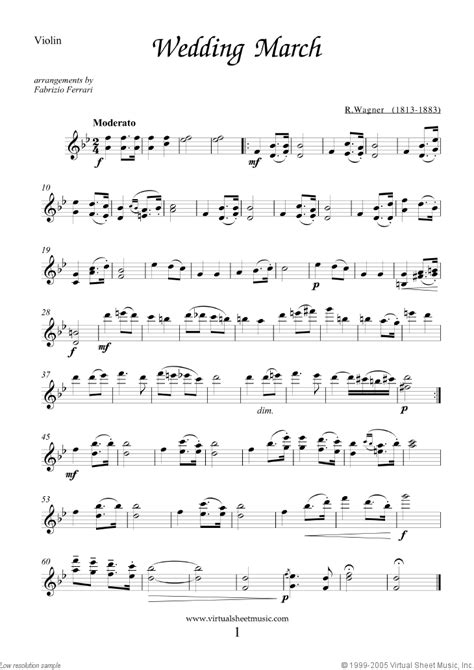 Wedding Song On Violin by Wedding Sheet For Violin And Cello